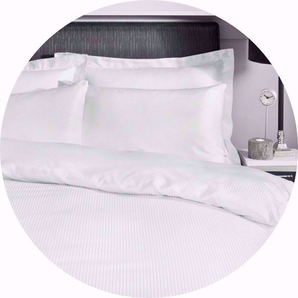 300 Thread Count Satin Stripe Bed Linen