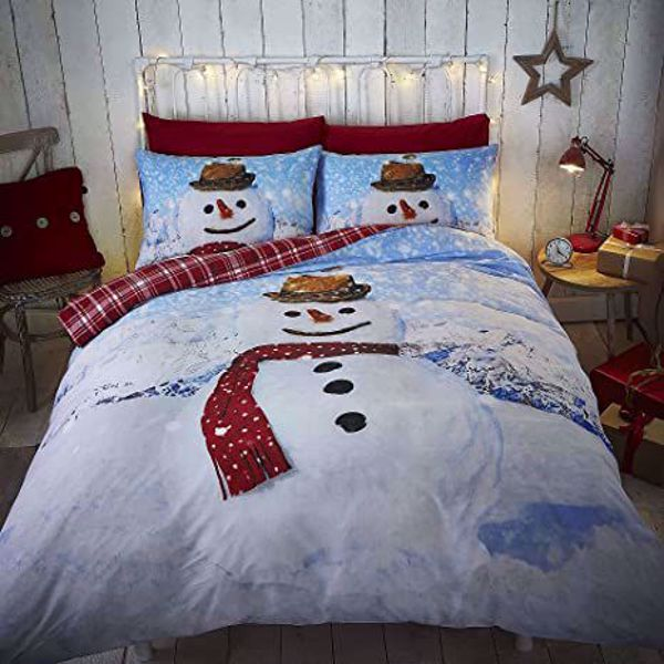 Picture of Christmas Snowman Single Duvet Cover Set