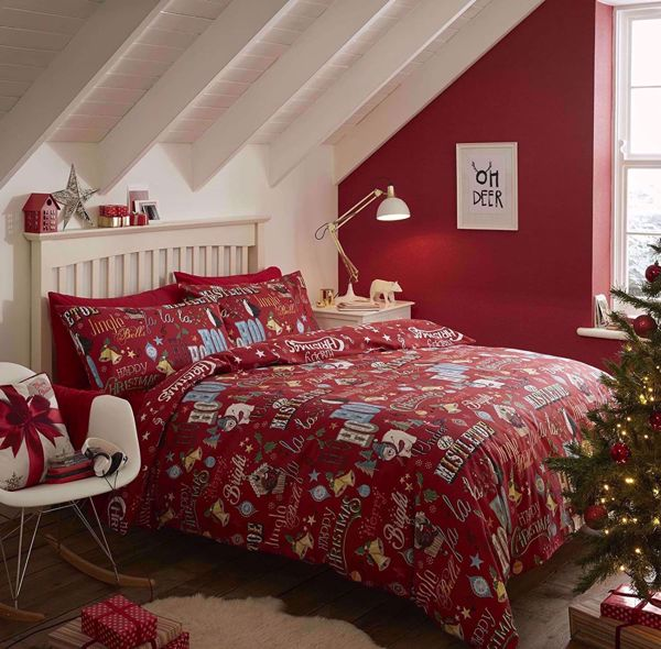 Picture of Brushed Happy Christmas Duvet Cover Set
