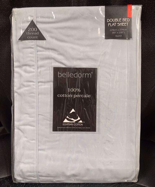 Picture of Belledorm  200tc 100% Egyptian Cotton Double Flat Sheet - Ocean